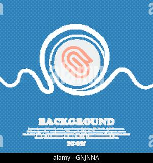 paper clip sign icon. Blue and white abstract background flecked with space for text and your design. Vector - Stock Photo
