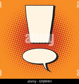 Comic bubble exclamation mark - Stock Photo