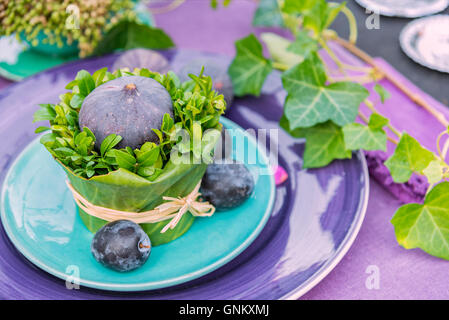 Image of a unique table setting for dinner or party. - Stock Photo