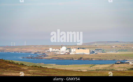 Dounreay nuclear power station on north coast of Scotland at Caithness, United Kingdom - Stock Photo