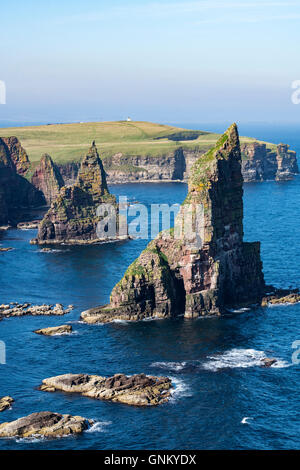 Sea stacks at Duncansby Head, near John O' Groats, Caithness, Highland, Scotland, United Kingdom - Stock Photo