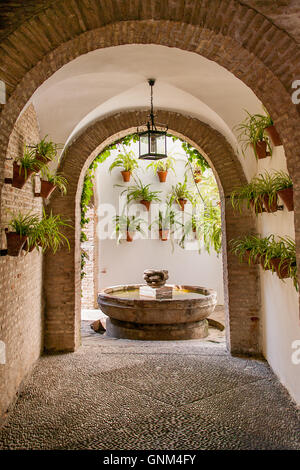 Cordoba or Cordova, is a city of Andalusia, southern Spain, courtyard (patio in Spanish) - Stock Photo