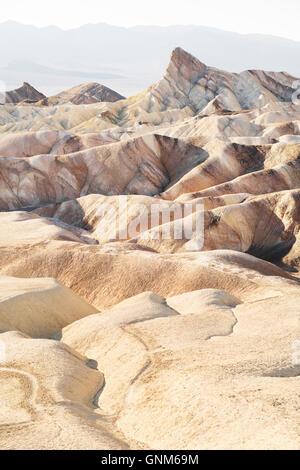Zabriskie Point in Death Valley National Park - Stock Photo