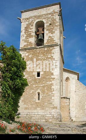 Menerbes Church hilltop village Luberon Provence France - Stock Photo