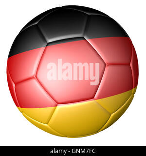 Soccer football with German flag - Stock Photo