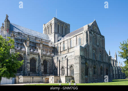 Winchester Cathedral, Cathedral Close, Winchester, Hampshire, England, United Kingdom - Stock Photo