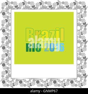 Vector Brazil Rio Summer Games 2016. Flat design graphic clip art abstract illustration. - Stock Photo