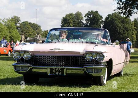 1959 Pink Cadillac convertible - Stock Photo