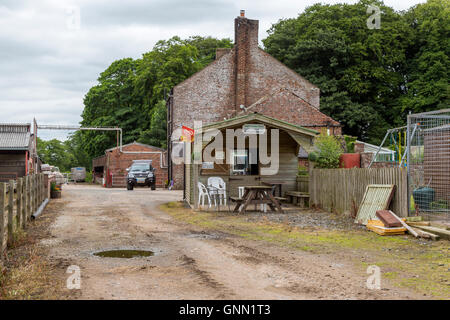 Snack Shop at High Crosby Farm, Hadrian's Wall Path, near Carlisle, England, UK. - Stock Photo