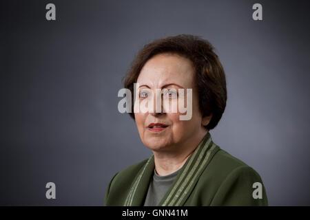 Shirin Ebadi, the Iranian lawyer, a former judge and human rights activist , at the Edinburgh International Book - Stock Photo