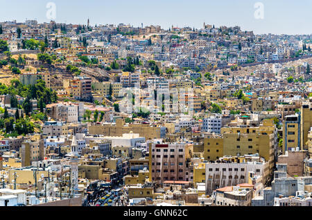 Cityscape of Amman, Jordan - Stock Photo