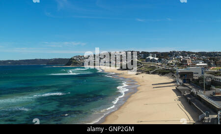 Bar Beach in Newcastle in New South Wales - Australia - Stock Photo