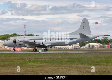 German Navy (Deutsche Marine) Lockheed P-3C Orion maritime patrol and surveillance aircraft. - Stock Photo