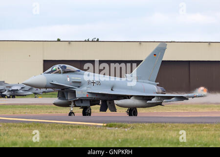 German Air Force (Luftwaffe) Eurofighter Typhoon - Stock Photo