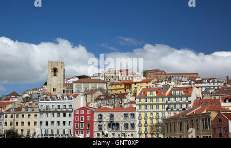 Lisbon, Portugal, view over Judiaria - Stock Photo