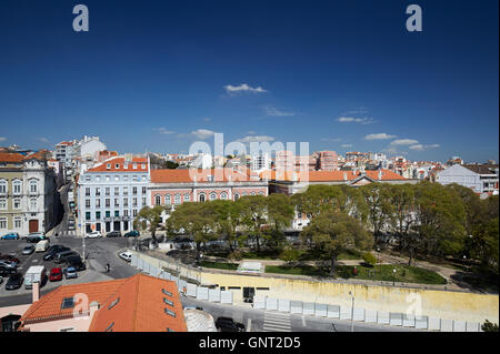 Lisbon, Portugal, views over the Alfama district - Stock Photo