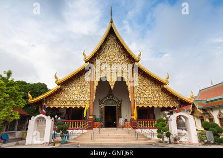 Wat Chiang Man, the oldest temple in Chiang Mai, Thailand - Stock Photo