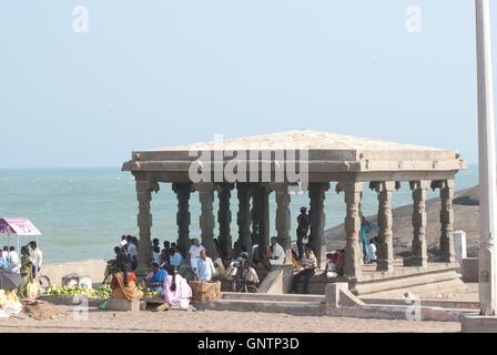 Ghandi Memorial, Kanyakumari, Tamil Nadu, Southern India, Asia - Stock Photo