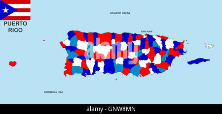 Puerto Rico Political Map Stock Photo Royalty Free Image - Political map of puerto rico