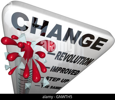 Change Thermometer Improvement and Successful Growth - Stock Photo