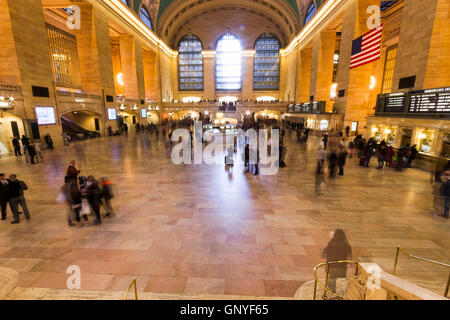 NEW YORK CITY, USA - NOVEMBER 16, 2012: Views of the historic Grand Central railroad Terminal in New York City on - Stock Photo