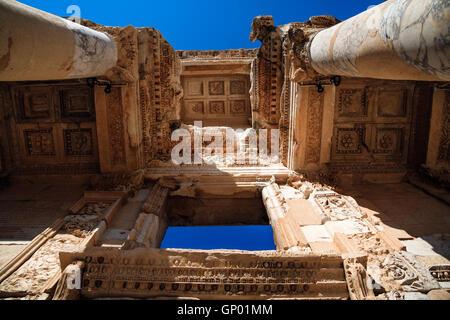 Ancient ruins in Ephesus. Turkey - Stock Photo
