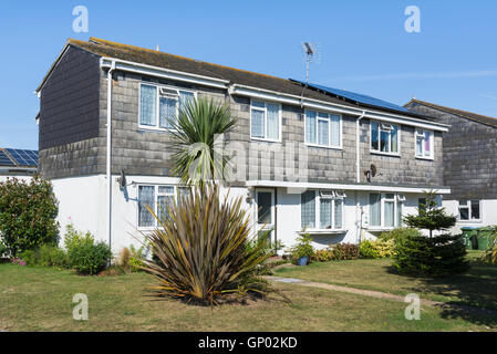 Tile hung modern terraced houses in the UK. - Stock Photo