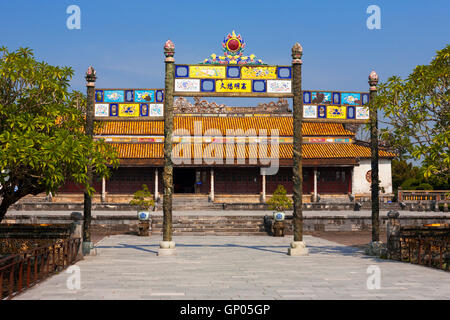 Thai Hoa Palace (Hall of Supreme Harmony), Imperial City, Hue, Viet Nam - Stock Photo