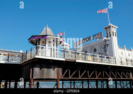 Brighton Pier, Bighton Beach, Sussex,United Kingdom - Stock Photo