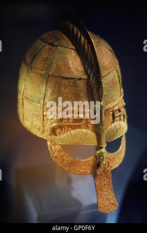 viking helmet from vendel uppland sweden dated to the