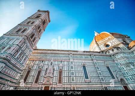 Central cathedral in Florence - Stock Photo
