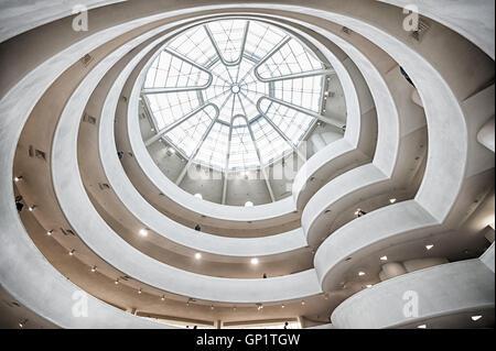 Inside the Guggenheim, New York looking up