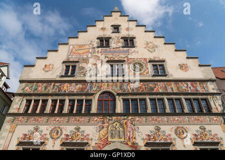 old town hall in Lindau, Bavaria, Germany - Stock Photo