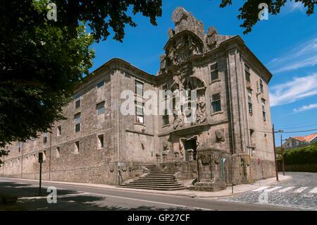 Convent of Santa Clara - 17th century, Santiago de Compostela, La Coruña province, Region of Galicia, Spain, Europe - Stock Photo