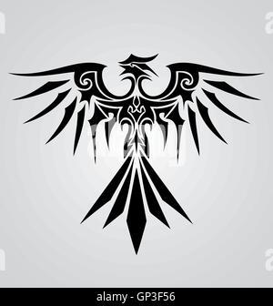 Tribal Phoenix Bird - Stock Photo