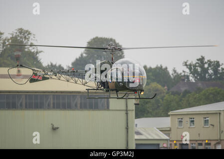 Vintage Army helicopter at Dunsfold Wings & Wheels. - Stock Photo