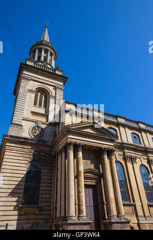 Looking up the exterior of All Saints Church in Oxford.  It now houses the library for Lincoln College - one of - Stock Photo