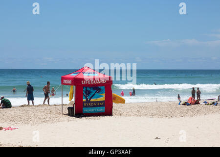 Surf Rescue Lifeguard tent on Broken head beach in Byron Bay,new ...