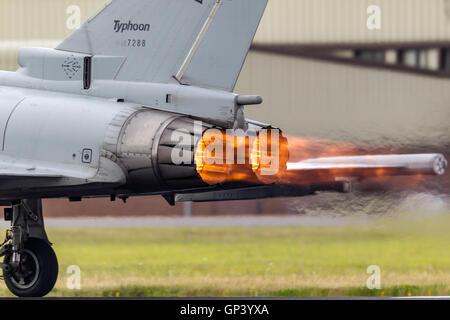 Italian Air Force (Aeronautica Military) Eurofighter Typhoon from the flight test department (Reparto Sperimentale - Stock Photo