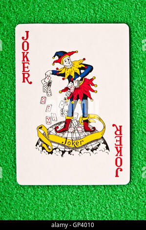 Joker playing card - Stock Photo