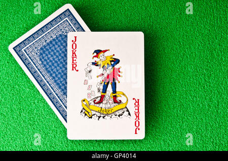 playing card Joker - Stock Photo