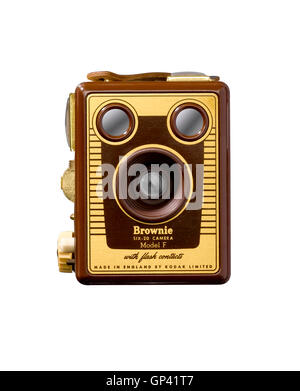 A cut out shot of a Box Brownie camera. - Stock Photo