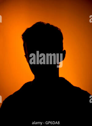 Young mans silhouette, avatar - Stock Photo
