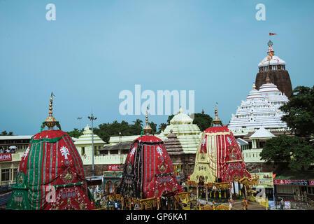 Jagannath rath yatra, puri, orissa, india, asia - Stock Photo