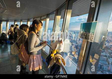Tourists at Tokyo, Shiba-koen district , Japan - Stock Photo