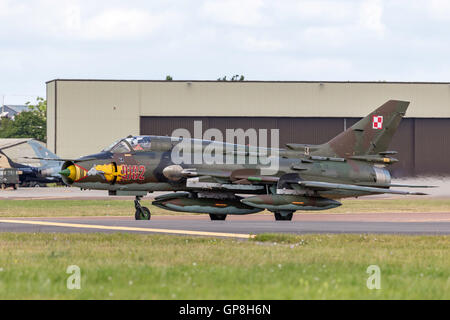"Polish Air Force (Siły Powietrzne) Sukhoi Su-22M4 ""Fitter"" attack aircraft - Stock Photo"