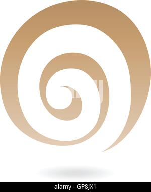 Abstract spiral galaxy icon isolated on white - Stock Photo