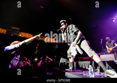 Las Vegas, Nevada, USA. 2nd September, 2016. Epic Mazur frontman of the band Crazy Town at The Orleans Arena Credit: - Stock Photo