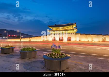 Gyeongbokgung palace in Seoul, South Korea. - Stock Photo