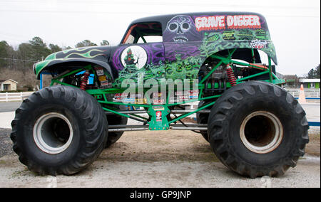 Monster truck Grave Digger museum in Poplar Branch North Carolina - Stock Photo